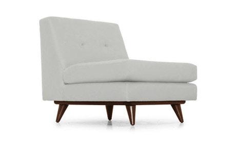 Hughes Leather Armless Chair
