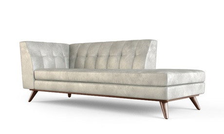Hughes Leather Bumper Chaise