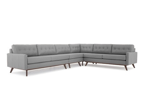 Hopson Leather Corner Sectional