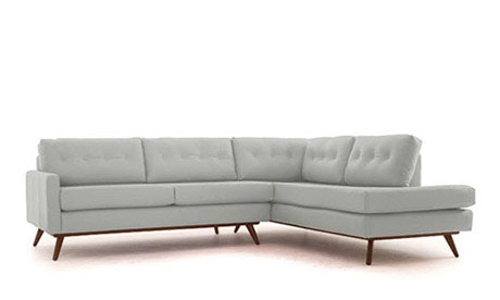 Hopson Leather Sectional with Bumper