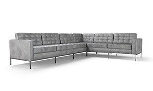 Franklin Leather L-Sectional