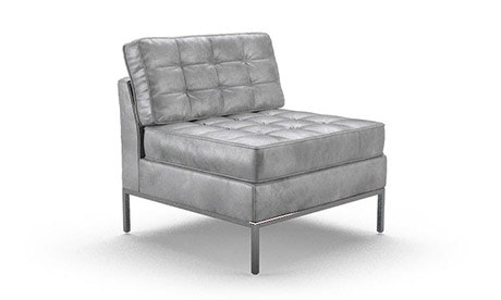 Franklin Leather Armless Chair