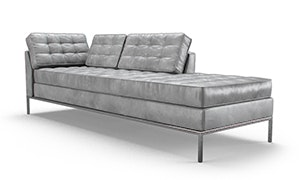 Franklin Leather Bumper Chaise