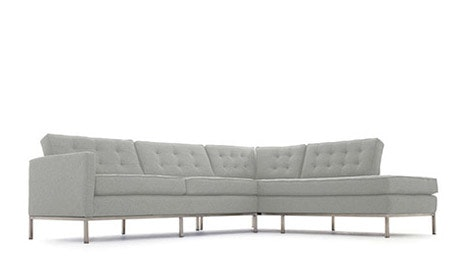 Franklin Leather Sectional with Bumper