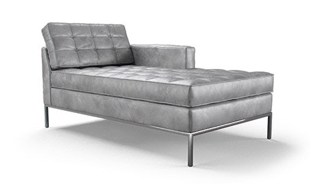 Franklin Leather Single Arm Chaise