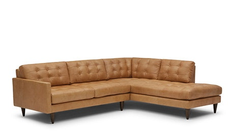 Quick View Eliot Leather Sectional With Per