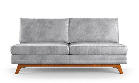 Calhoun Leather Armless Loveseat