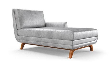 Calhoun Leather Single Arm Chaise