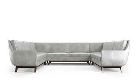 Calhoun Leather U-Sofa Sectional