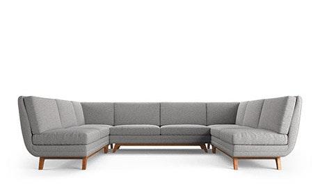 Calhoun Armless U-Sofa Sectional
