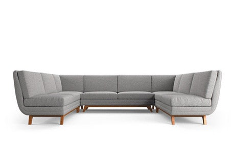Calhoun Armless U-Sofa Sectional
