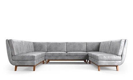Calhoun Leather Armless U-Sofa Sectional