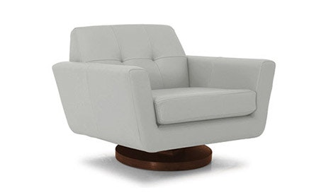 Hughes Leather Swivel Chair