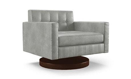Korver Leather Swivel Chair