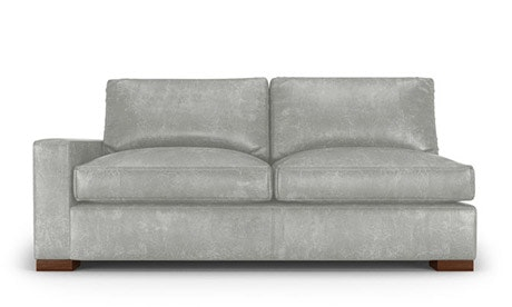 Anton Leather Single Arm Loveseat