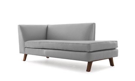 Hyland Leather Bumper Chaise