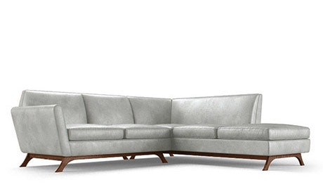 Hyland Leather Sectional with Bumper