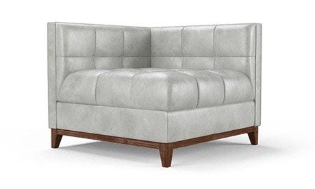Stowe Leather Corner Chair