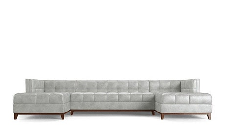 Stowe Leather U-Chaise Sectional