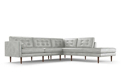 Braxton Leather Sectional with Bumper