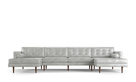 Braxton Leather U-Chaise Sectional