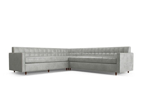 Korver Leather Corner Sectional Sleeper