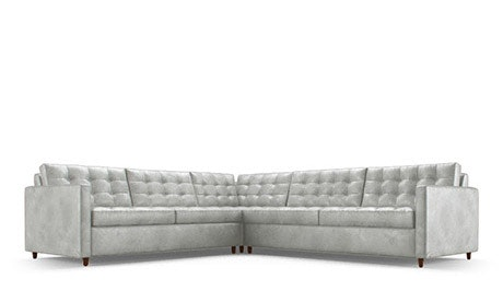 Eliot Leather Corner Sectional Sleeper