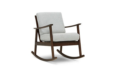mid century rocking chair Mid Century Modern Rocking Chairs | Joybird mid century rocking chair