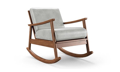 Paley Leather Rocking Chair