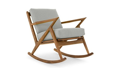 Soto Leather Rocking Chair