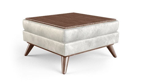 Hughes Leather Table Top Ottoman