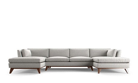 Roller U-Chaise Sectional