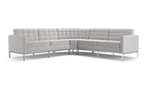 Franklin Leather Round Corner Sectional