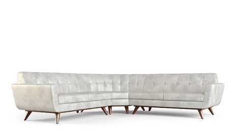 Hughes Leather Round Corner Sectional