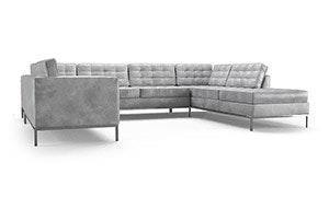 Franklin Leather U-Sofa Bumper Sectional