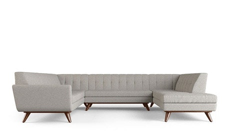 Hughes U-Sofa Bumper Sectional