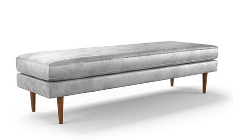 Braxton Leather Bench