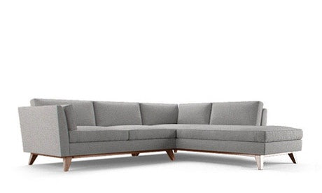 Roller Sectional with Bumper