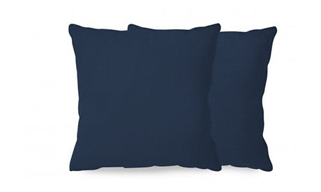 Decorative Leather Knife Edge Pillows (Set of 2)