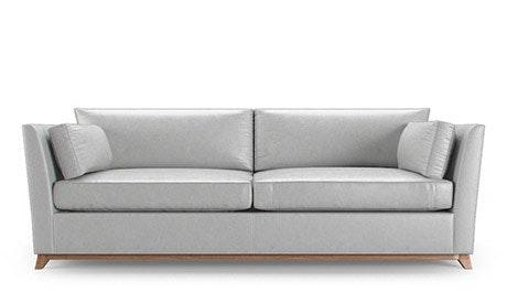Roller Leather Sleeper Sofa