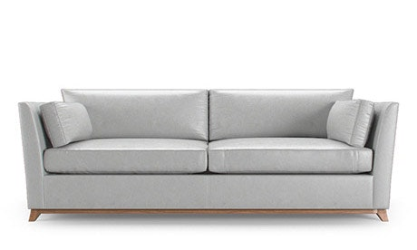 Roller Leather Sleeper Sofa