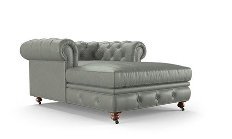 Liam Leather Chaise