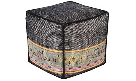 Camille (Charcoal) Pouf