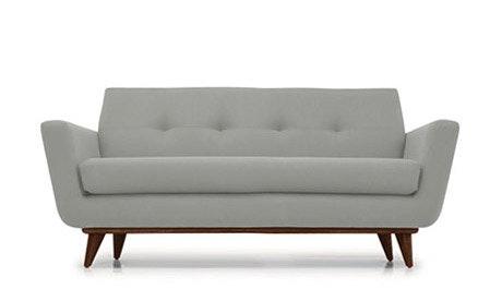Hughes Leather Apartment Sofa