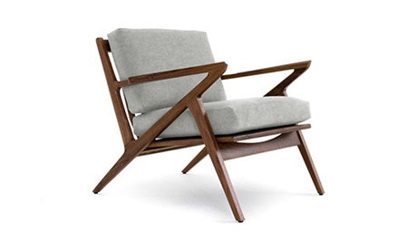 Soto Leather Concave Arm Chair