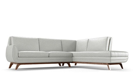 Calhoun Leather Sectional with Bumper