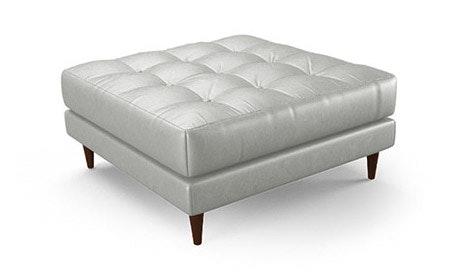 Eliot Leather XL Ottoman