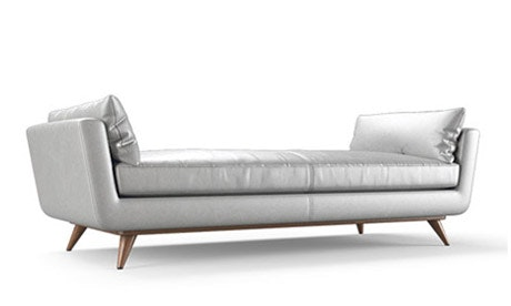 Hughes Leather Daybed