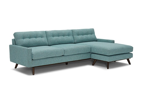 + Quick View · Hopson Reversible Sectional  sc 1 st  Joybird : modern sectional with chaise - Sectionals, Sofas & Couches