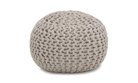 Riley (Grey) Pouf